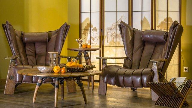 Кресла в африканском стиле, кресла для айриканского стиля, африканская мебель
