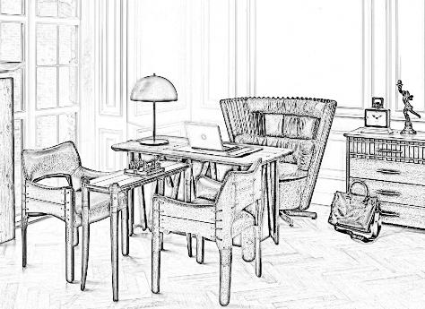 Необычная мебель для кабинета руководителя, мебель для домашнего кабинета